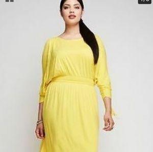 Lane Bryant Yellow Cold Shoulder Dress 26/28